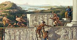 Schinkel: Blick in Griechenland's Blüthe, 1825